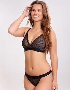 533122287aed9 Cleo by Panache Lyzy Triangle Non Wired Bra Black
