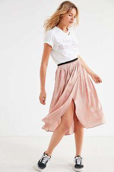 ef162ad096d cute UO Windswept Pleated Midi Skirt Mid Length Skirts