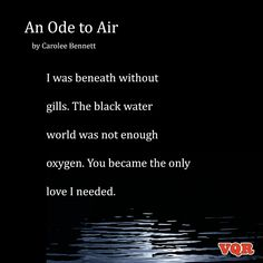 """""""An Ode to Air"""" by Carolee Bennett #poem #poetry"""