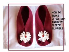 How to make fleece slippers exactly the right size for your feet - genius!