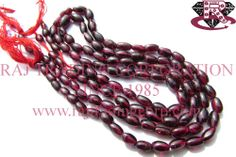 Garnet Smooth Dew Drops (Quality B) Shape: Dew Drops Smooth Length: 36 cm Weight Approx: 12 to 14 Grms. Size Approx: 3.5x6 to 5x8 mm Price $2.56 Each Strand
