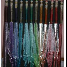 Metallic crayon melting