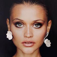 Sterling Silver Asymmetrical Lotus Flower Earrings. Designer earrings. Statement Earrings. Art Nouveau Statement Earrings, Stud Earrings, Largest Butterfly, Earrings Photo, Down Hairstyles, Flower Earrings, Designer Earrings, Lotus Flower, Art Nouveau