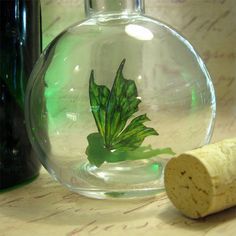 The Green Fairy Absinthe Faerie bottle MADE by MagicalOddities
