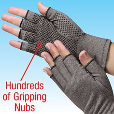 Compression Gloves for arthritis, carpal tunnel, tendonitis & Raynauds symptoms @ QCIdirect.com