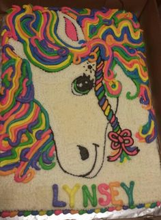 Lisa Frank cake...turned out colorful and cute - Sugar Shack Cakes
