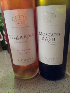 Stella Rosa wines: Stella Pink and Moscato