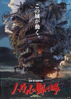 """Hauru no Ugoku Shiro (Howl's Moving Castle)"" (2004). COUNTRY: Japan. DIRECTOR: Hayao Miyazaki. SCREENWRITER: Hayao Miyazaki (Novel: Diana Wynne Jones). COMPOSER: Joe Hisaishi. (Studio Ghibli)"