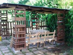 , garden porch...what to call this structure? But its awesome! Wood ...
