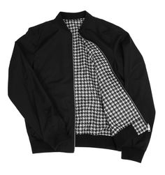 J Lindeberg Thom 52 Black Hounds Tooth Reversible Jacket  #AlexRecommends