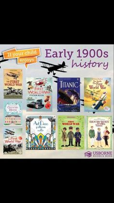 Homeschool 1900s titanic curriculum world wars history reading usborne books & more