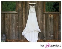 Beautiful bridal gown.