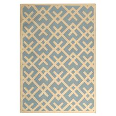 Safavieh Hand-woven Moroccan Dhurrie Light Blue/ Ivory Wool Rug (6' x 9') $207