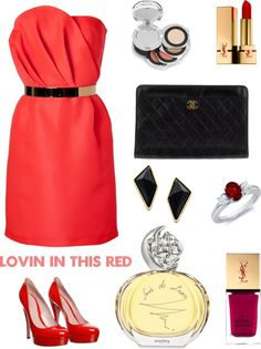 """Lady in RED at satnite date"" by tiramitsu-cha on Polyvore"