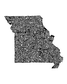 Print of Missouri counties (in the exact shape and location!).