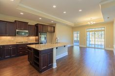 Open kitchen and dining room in the Salerno