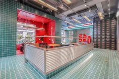 Cafe Interior Design, Cafe Design, Chinese Theme, Chinese Interior, Noodle Bar, Coffee Shop Design, Shop Interiors, Display Design, Retail Design