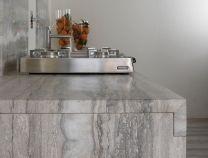 Worktop slab from The Stone & Ceramic Warehouse. Warehouse Kitchen, Planer, Natural Stones, Kitchen Design, Dining Table, Kitchen Worktop, Flooring, Ceramics, Inspiration