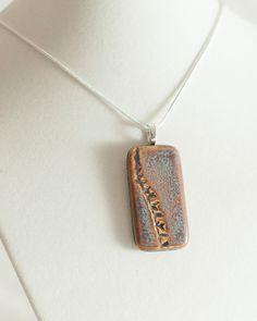 Rectangular nature pendant by ALLArtsyJewelry on Etsy, $24.00
