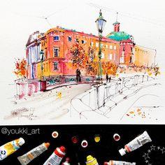 1,407 отметок «Нравится», 53 комментариев — Anastasia Mamoshina {Youkki} (@youkki_art) в Instagram: «A little commissioned work I did with a big pleasure because I love this place too. I used my on-…»