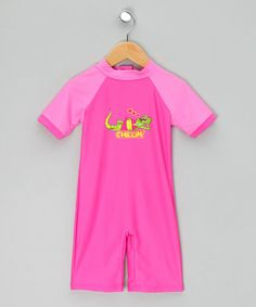 Take a look at this Pink 'Chillin' Sunsafe Suit by WW Group on #zulily today!