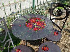 Rose Peony furniture set by Helen Nock, via Flickr