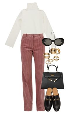 """Untitled #4322"" by lily-tubman ❤ liked on Polyvore featuring CÉLINE, Gucci, Apt. 9 and Acne Studios"