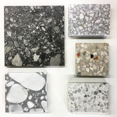 Different types of terrazzo samples Gallery Wall, Decor, Terazzo, Diy Furniture, Flooring, Interior, Interior Floor, Home Decor, Terrazzo
