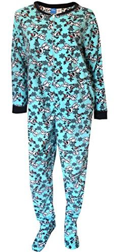 Disney Women s Ladies One Piece Pajama Frozen Plus 6b3f842a7