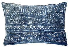 This would be a SIMPLE batik-LZ Indigo Batik Pillow - eclectic - Pillows - Acapillow Home Furnishings