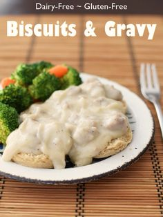 Cream Biscuits and Gravy Recipe: Gluten-Free, Dairy-Free & Sneaky ... yes, that really is a creamy, delicious, easy, from-scratch cauliflower gravy! Includes a vegan option.