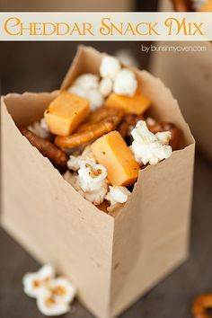 Cheddar Snack Mix   A fun and easy snack mix for movie night!