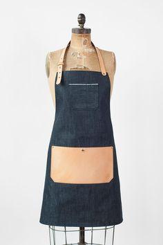 Selvedge Denim & Leather Apron Made in U.S.A. von AmericanNative