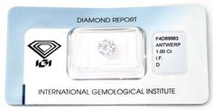 Foto 1, Der Beste Diamant, IGI, 1.00 Lupenrein, River-D Diamond, D5640