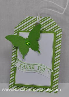 Stampin' Up! Tag A Bag Accessory Kit Simple Project created by Hand Stamped Style, THANKS for checking out my PIN for more info visit my BLOG and FACEBOOK PAGE http://www.facebook.com/handstampedstyle