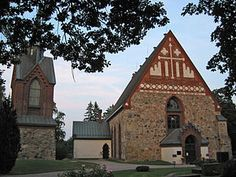 The church of st. Lawrence in Helsinge village, Vantaa. Built in 1460. Helsinge kyrkoby is the only swedish-speaking area of Vantaa, and has given its name to our capital city to the south.