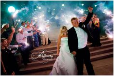 Sparklers for the bride and groom at Kirkland's Woodmark Hotel.