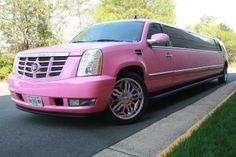 PINK Cadillac Escalade