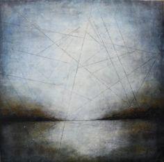 Deborah Bridges The Mirror, Encaustic Painting