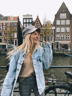 @LIZZYPERRIDON In amsterdam at the canals. Wearing @myisabelli, @levi's, @enviii