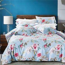 Bohemio floral consolador establece 100% algodón ropa de cama de telas para ropa de cama niñas cubierta de cama colcha(China (Mainland))