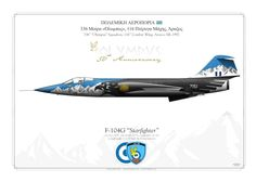 """F-104G """"Starfighter"""" 336th """"Olympus"""" Squadron, 116th Combat Wing. Araxos AB, 1992 Special color for """"50th Anniversary"""""""