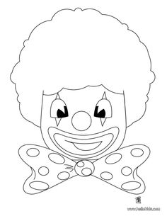 Clown Coloring Pages | free printable coloring page Circus Clowns ...