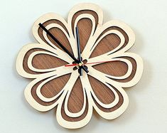 12'' Wooden Wall Clock / Home Decor / Housewares / Clock by KWUDLV