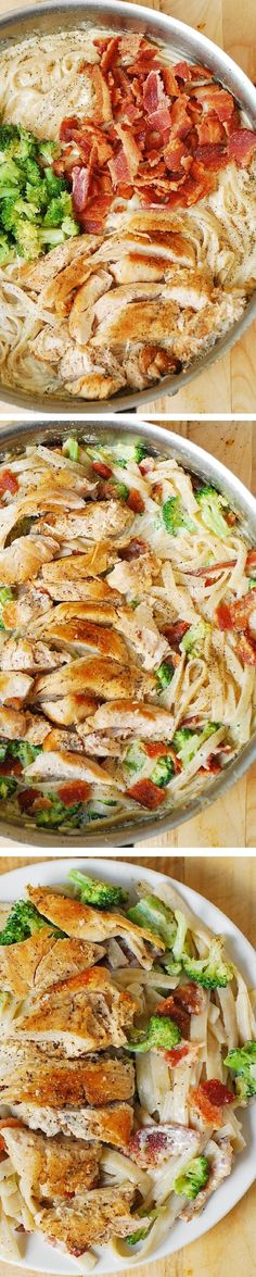 Creamy Brocoli Bacon and Chicken Pasta Review: quick, easy weeknight meal. We skipped the bacon, was still delicious! AT
