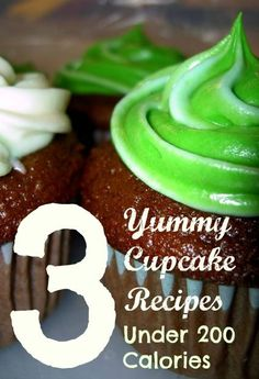 3 Yummy Cupcake Recipes Under 200 Calories on http://twokidsandacoupon.com
