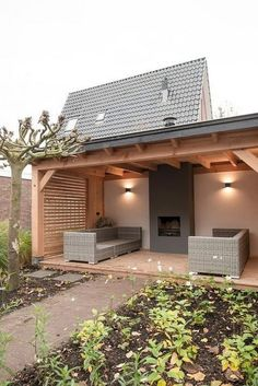 Love the idea of an outside fireplace - Pergola Ideas Carport Designs, Backyard Patio Designs, Backyard Landscaping, Backyard Ideas, Backyard Pools, Patio Ideas, Landscaping Ideas, Terrace Ideas, Backyard Studio