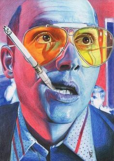 Depp - Fear and Loathing in Las Vegas - Poster - Home Apparel art Pop Culture Illustrations by Flore Maquin Movie Poster Art, Film Posters, Art Posters, Psychedelic Art, Arte Black, Fear And Loathing, Psy Art, Kunst Poster, Vaporwave