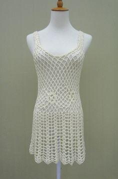 Crochet Short Beach Dress Swim Cover Up by TinaCrochet2016 on Etsy