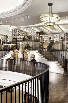 Burberry shop on Regent Street. Must do! Here's the lower and higher balconies…